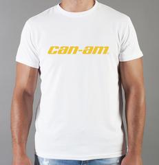 Футболка с принтом Can-Am (BRP) белая 004