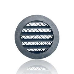 Антивандальная алюминиевая наружная решетка Europlast 80мм MRA80