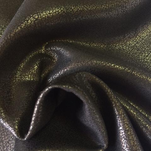 Ткань  трикотаж черный с напылением 3165