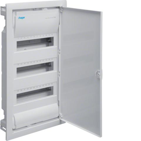 Щиток для сплошных стен,Volta,IP30,3x12М,DIN43871, глубина уст 90мм, RAL9010