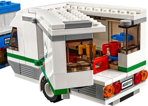 LEGO City: Фургон и дом на колёсах 60117 — Van & Caravan — Лего Сити Город