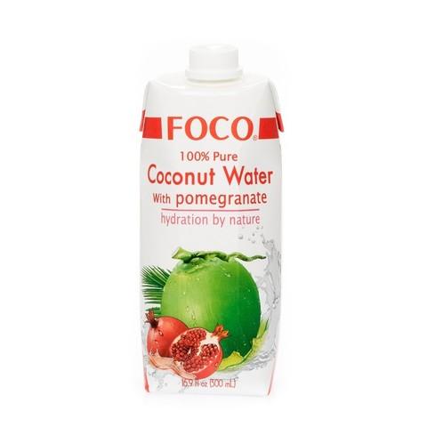FOCO кокосовая вода с соком граната 330 мл