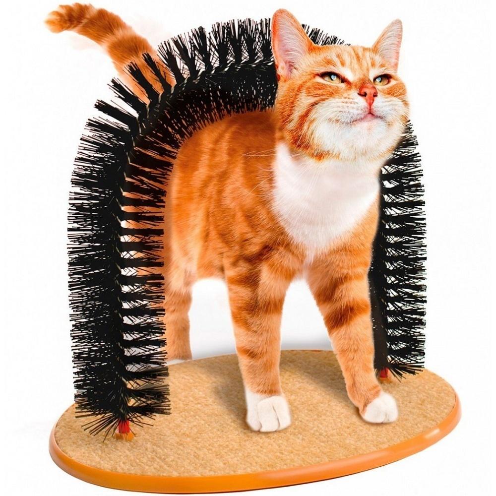 Новинки Когтеточка для кошек «Кошачье удовольствие» со щеткой TD_0301-2.jpg