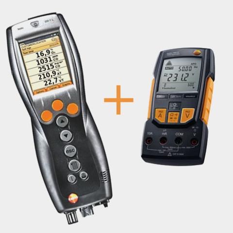 Портативный газоанализатор Testo 330-2 LL BT+мультиметр Testo 760-2 с магнитным креплением, кейс, Описание Testo 330-2 LL  BT+мультиметр Testo 760-2 (арт: 0563 3376)