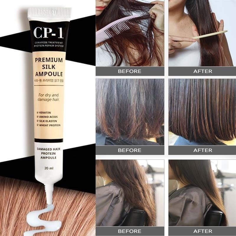 Несмываемая сыворотка для волос с протеинами шёлка Esthetic House CP-1 Premium Silk Ampoule 20 мл