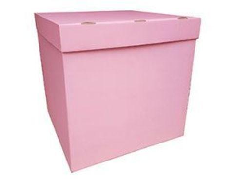 Коробка для шаров с персональным оформлением розовая