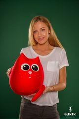 Подушка-игрушка антистресс «Кот Искра» 2