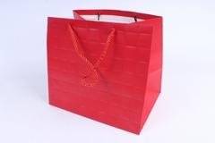 Подарочный пакет красный Люкс