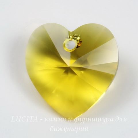 6228 Подвеска Сваровски Сердечко Sunflower (14,4х14 мм)
