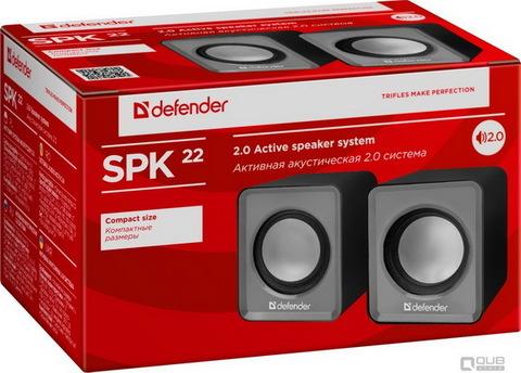 Колонки компьютерные DEFENDER 2.0 SPK 22 2х2,5 Вт USB, серый