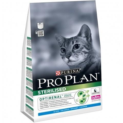 Purina Pro Plan Sterilised Rabbit сухой корм для взрослых стерилизованных кошек и кастрированных котов с кроликом 3 кг