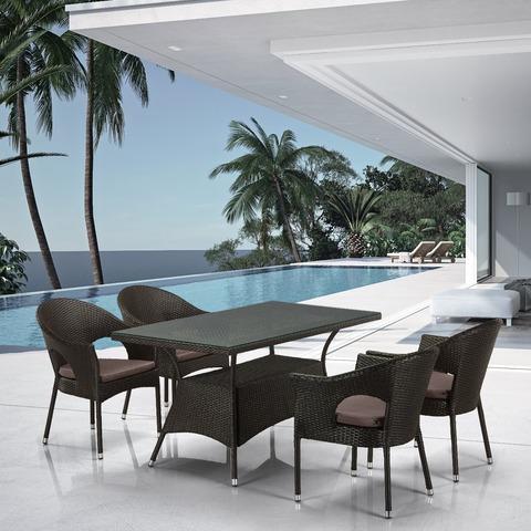 Комплект плетеной мебели T198A/Y97B-W53 4 Pcs Brown