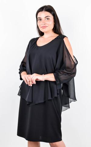 Мери. Нарядное платье плюс сайз. Черный.