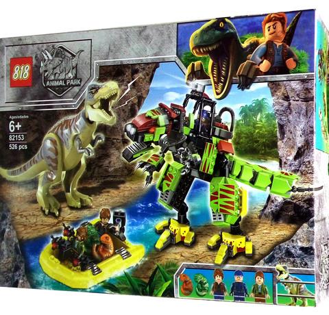 Парк Юрского периода Бой тираннозавра и робота-динозавра, 82153,526дет