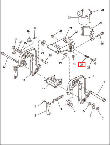 Пружина  для лодочного мотора T2,5 SEA-PRO (6-24)
