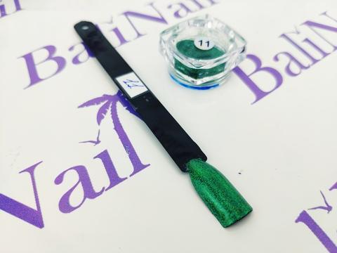 Пыль для дизайна ногтей (зеленый) #11
