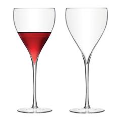 Набор из 2 бокалов для красного вина Savoy, 450 мл, прозрачный, фото 1