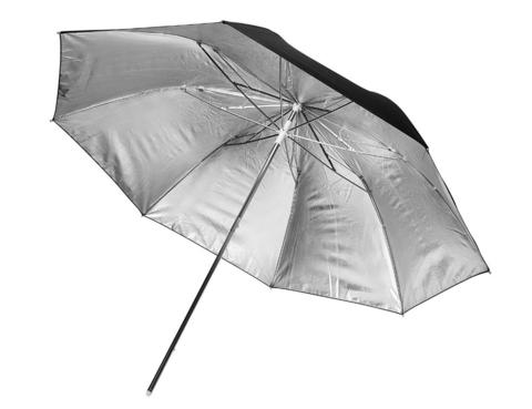 Зонт Fotokvant U-84S серебряный на отражение 84 см