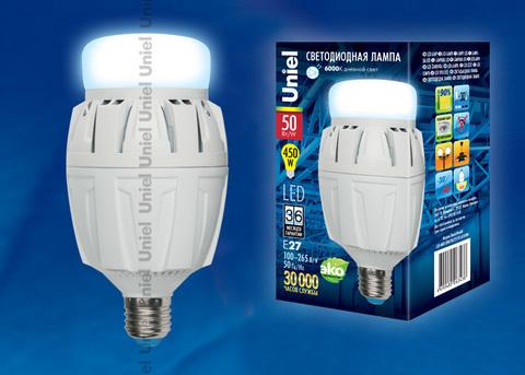 LED-M88-50W/DW/E27/FR ALV01WH Лампа светодиодная с матовым рассеивателем. Материал корпуса алюминий. Цвет свечения дневной. Серия Venturo. Упаковка картон.