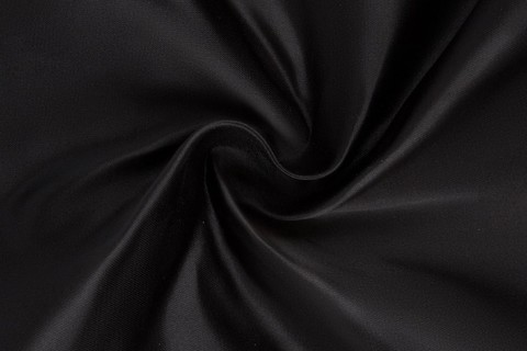 Ткань Атлас дюпон (черный) №19
