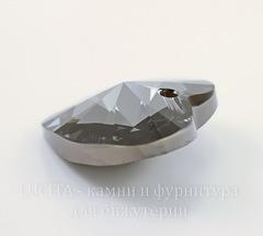 6228 Подвеска Сваровски Сердечко Crystal Silver Night (28 мм)