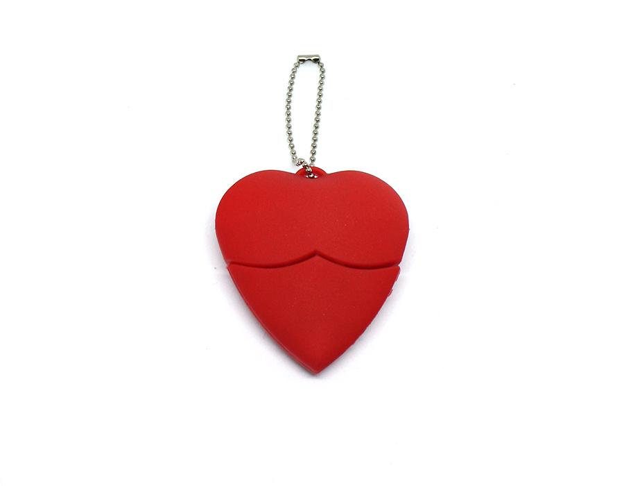 usb-флешка сердечко из пвх