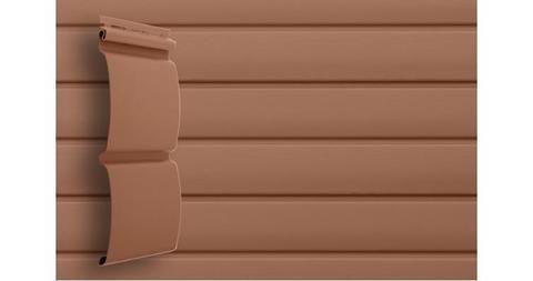 """Виниловый сайдинг Гранд Лайн блок хаус 3.0 D 4,8"""" темно - бежевый"""