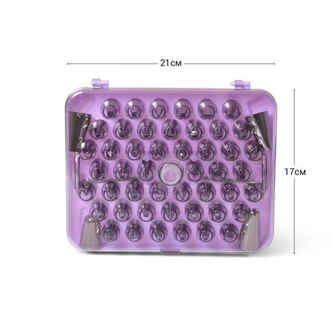 8511 FISSMAN Набор из 52 насадок на кондитерский мешок с 2 кондитерскими гвоздями и адаптером,  купить