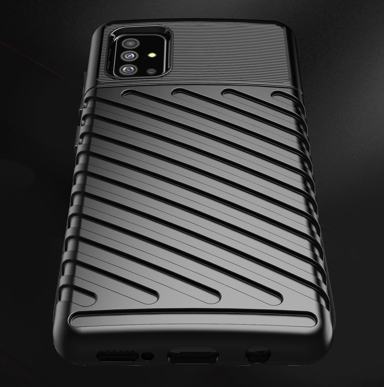Чехол Samsung Galaxy A51 (M40S) цвет Black (черный), серия Onyx, Caseport