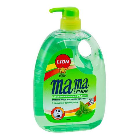 Средство для мытья посуды с антибактериальным эффектом Mama Lemon с ароматом зеленого чая 1 л