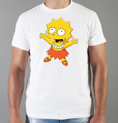 Футболка с принтом мультфильма Симпсоны (The Simpsons) белая 007