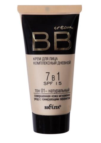 B&V BB cream Крем для лица комплекс дневной 7в1 SPF15 тон 01  30мл