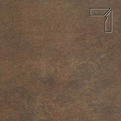 Stroeher - Keraplatte Asar 640 maro длина стороны угла 290 артикул 9118 - Плинтус клинкерной ступени правый