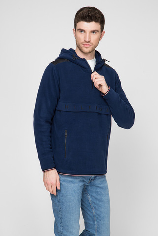 Мужское синее худи POLAR FLEECE Tommy Hilfiger