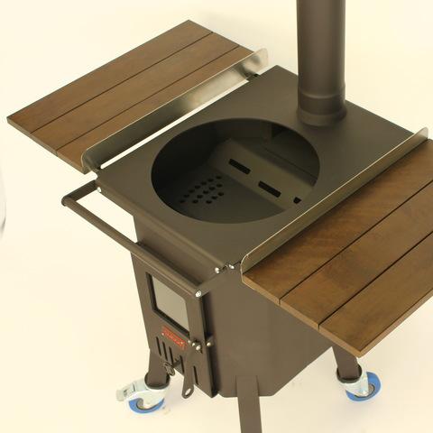 Печь для казана 10-12л с поперечным рассекателем огня D2