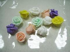 Роза из фоамирана кудрявая 3,5 см, высота 2 см, 1 шт.