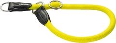 Ошейник-удавка для собак Hunter Freestyle Neon 60/10 нейлоновая желтый неон