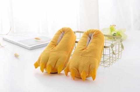 Тапочки когти желтые