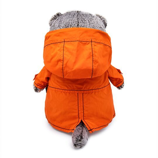 Кот Басик в куртке с капюшоном