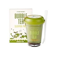 Ночная маска Etude House Bubble Tea Sleeping Pack - Green Tea, 100 мл