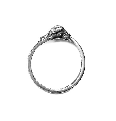 Dog Totem Ring, sterling silver