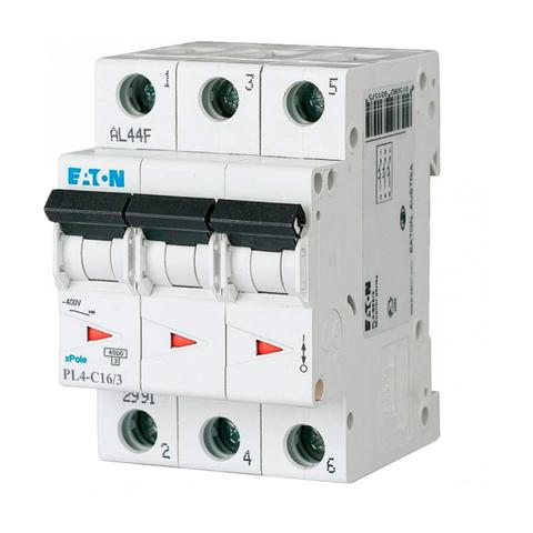 Автоматический выключатель Eaton PL4-C16/3P (293160 Moeller series)
