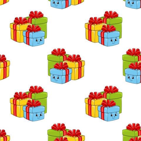 Разноцветные коробки с подарками