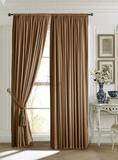 Mild (коричневый). Готовые шторы.