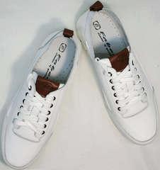 Летние дышащие кроссовки мужские белые Faber 193909-3 White.