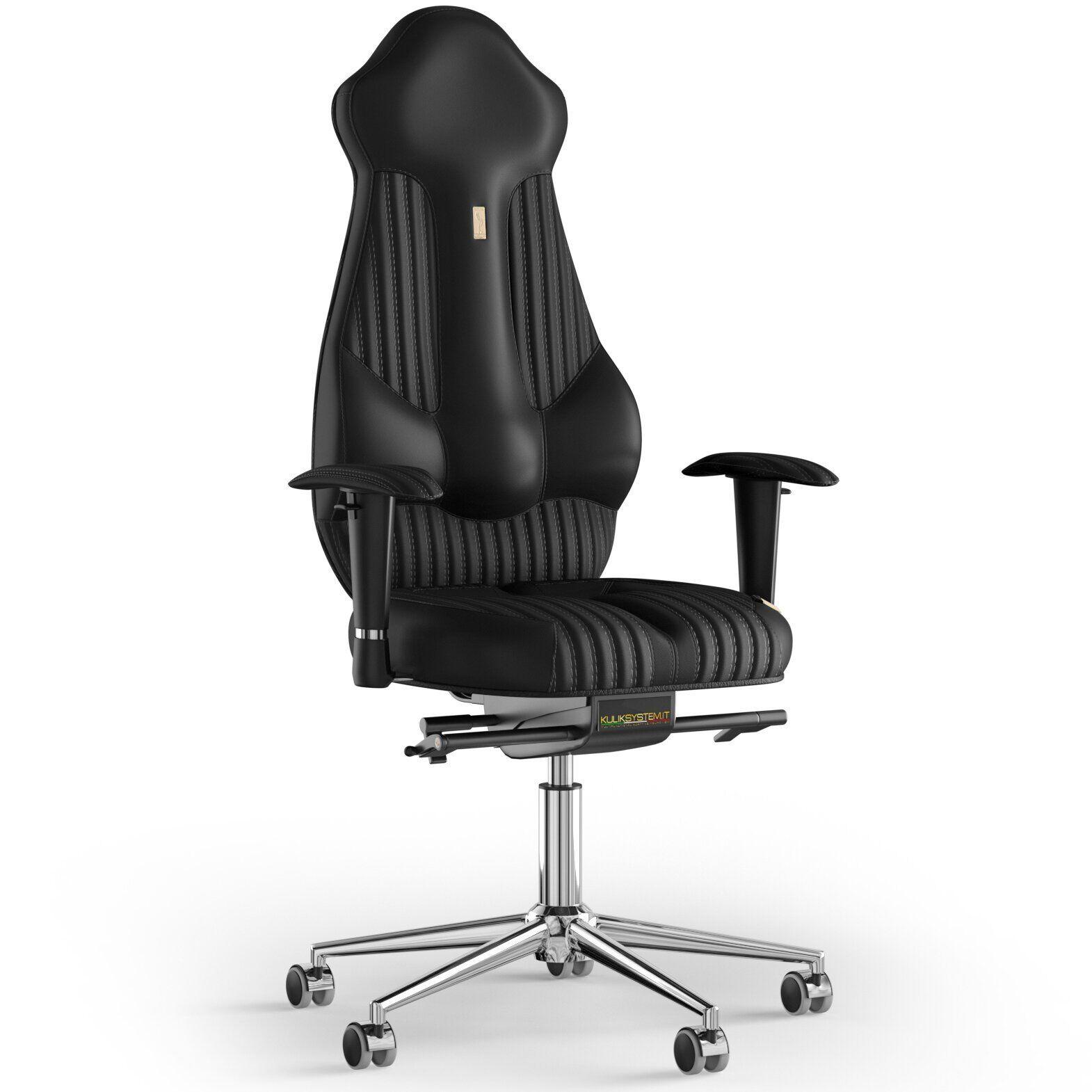 Кресло KULIK SYSTEM IMPERIAL Экокожа с подголовником со строчкой