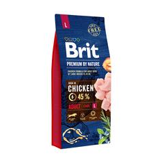 Brit Adult L Premium by Nature курица 15 кг (для крупных пород)