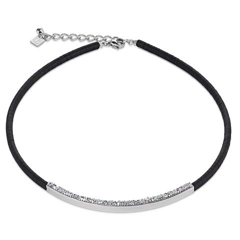 Колье Coeur de Lion 4897/10-1700 цвет чёрный, серебряный