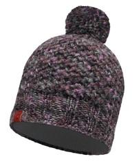 Вязаная шапка с флисовой подкладкой Buff Margo Plum