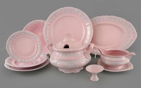 Серые узоры розовый фарфор